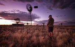 A windmill Sunset (Bass Photography) Tags: boulia queensland australia outback outbackaustralia australiansuburbs australianoutback australianlandscape sunset windmill artesianwater artesianwell desert