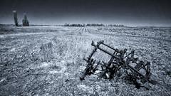Carcass (citrusjig) Tags: pentax kx infrared irconverted fullspectrum wisconsin blackandwhite toned sigma1020mmf456 bw090redfilter farmland farmmachinery