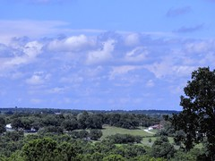 Green to Blue (clarkcg photography) Tags: clouds landscape trees land sky horizon meet perspective saturdaylandscape 7dwf