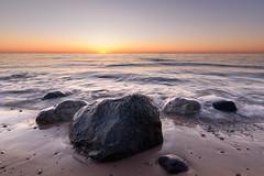 _DSC0725 (phatwhistle) Tags: beach leelanaucounty northernmichigan michigan lakemichigan greatlakes sunset rocks waves seascape tokina wideangle nature outside