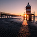 Sunrise at the red lighthouse - Lignano, Italy - Travel photography