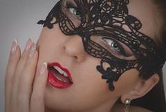 Hypnotic (Keltron - Thanks for 10M Views!) Tags: alexandra mask girlinamask greeneyes redlipstick redlips mardigrasmask beautifulgirl beautiful ukrainiangirls ukrainegirls closeup model brunette
