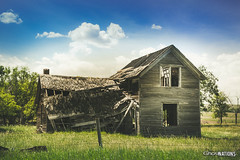 Broken And Left Empty (Ghost Of Nations Photography And Digital Art) Tags: ghostofnationsphotography ghostofnations broken abandon urbex southdakota jerauldcounty greatplains blue abandoned house field