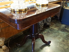 """19th century flip top games table. • <a style=""""font-size:0.8em;"""" href=""""http://www.flickr.com/photos/51721355@N02/35065268834/"""" target=""""_blank"""">View on Flickr</a>"""