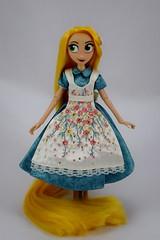Adventure Rapunzel's in Designer Alice's Dress - Full Front View (drj1828) Tags: us disneystore doll purchase posable 10inch 2d deboxed designer heroesandvillains aliceinwonderland alice rapunzel disneyfairytaledesignercollection 2016 2017 swappedoutfits tangledtheseries adventure