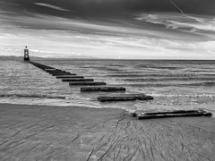 Crosby Beach (Keith Grafton) Tags: crosby beach bw fujifilm gfx50s