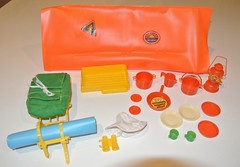 Barbie Campin' Out Play Pak - 1978 (jadedoz) Tags: vintage 78 1978 70s 1970s barbie mattel camping out play pak pack set playset tent doll toy