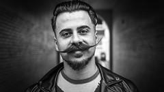 "#141 ""What the hell are you doing on this planet?"" (Hendrik Lohmann) Tags: street streetphotography streetportrait people portrait series project whatthehell hendriklohmann blackandwhite bwstreet bw düsseldorf nikon"