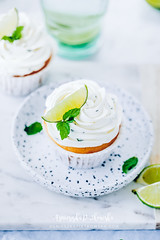 76.5 (apfff) Tags: prettybaked mojito cupcake cake green lime rum chocolate mint blue marble sweet dessert