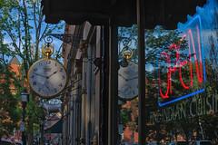 Swiss Time (xroper7) Tags: portlandme maine clock open fuji xt1