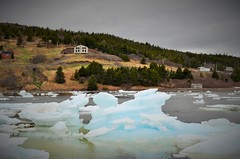 Blue ice (!Claro) Tags: cold ice blueice iceberg sunnyside newfoundland lonely nature canada small house rough