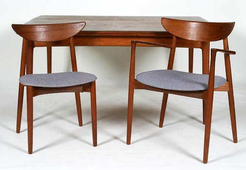 Randers Mobelfabrik Dining Room Table with 6 Chairs ($784.00)