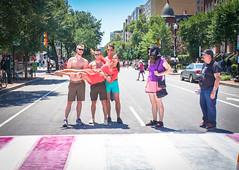 2017.06.10 Painting of #DCRainbowCrosswalks Washington, DC USA 6373