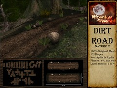 Dirt Road Nature 2 - LOST & FOUND 22nd June 2017 (moonshagoreanstore) Tags: dirt road way mud leaf leafs rock stones bush plants deco decor forest village medieval fantasy old vintage sl second life mesh prim moon sha moonlight shadow lost found lostfound lostandfound event fair gor gorean goreano goreana torvald torvaldslander sim