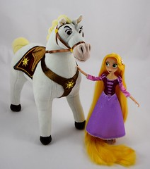 Adventure Rapunzel with Plush Maximus - Tangled: The Series - Disney Store Purchases - Rapunzel Standing in Front of Maximus (drj1828) Tags: us disneystore tangled tangledtheseries doll 2017 purchase posable adventure 10inch 2d deboxed maximus horse plush 15inch