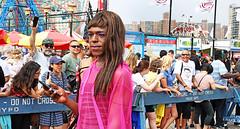 Support the LGBTQ Mermunity! (kirstiecat (on vacation...)) Tags: lgbtq politics mermaid nyc newyorkcity mermaidparade float people happy fun usa america canon street brooklyn coneyisland mermunity hatehasnohomehere humanrights mermaidrights pink
