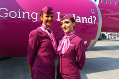 Iceland in mind... (Manuel Negrerie) Tags: iceland stewardess uniform wow air woman airbus a321neo beauty charming photography lbg france