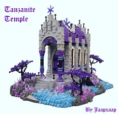 The Tanzanite Temple (jaapxaap) Tags: lego castle tanzanite temple medieval fantasy goh kiarr purple