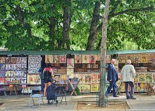 Bouquinistes along the Left Bank, Paris