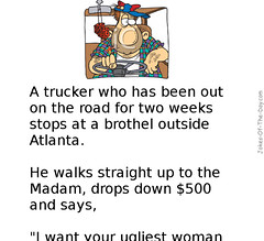 The Truck Driver (jokesoftheday) Tags: adult brothel dirty driver truckie