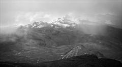 Bad Weather at the Highest Pass (kate willmer) Tags: mountain snow altitude landscape clouds rain blackandwhite bw monochrome mono peru