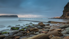 The day dawned... (ImagesByLin) Tags: avocansw baths oceanbaths rocks longexposure sunrise dawn ocean sea