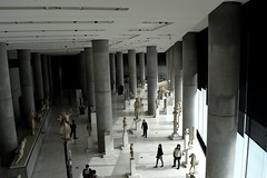 Day 171 : Is for ... The Walk In A Garden Full Of Wonders (Storyteller.....) Tags: 365 statue people wonder wonders blackandwhite blackwhite garden athens architecture acropolis museum