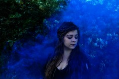 Smoke (lauriegirl97) Tags: enchanted editorial photography photo portrait selfportrait mystery mysterious fairytale fantasy fog cloud color smokebomb smoke