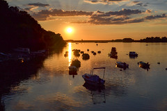 Sunset on Danube river (vladobgd) Tags: dunav danube river sunset zemun belgrade serbia vladobgd