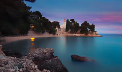 evening prayer (cherryspicks (on/off)) Tags: water sea adriatic bay longexposure bluehour evening twilight church dominican croatia brac bol architecture travel eveningprayer