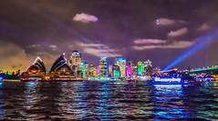 Sydney - Pyrmont Wharf (Merrillie) Tags: night cruise vividsydney australia buildings cityscape boats evening newsouthwales sea lights city marina water travel vivid pyrmont casinowharf waterside architecture waterscape nightscape nighttime harbour sydney