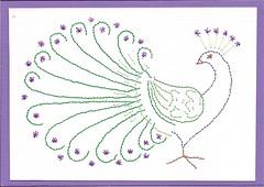 Pauw 27-06-2017 (Patriciaa220 Postcrossing) Tags: creaswap swap borduren pauw dieren