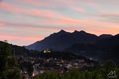 Breno (Andrea Moraschetti Photography) Tags: sunsest breno vallecamonica castel castello light sky clouds colors view landscape brescia evening lombardia italian place