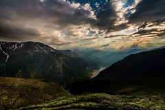 Veille entre Monts et Mers (bettermakeanote) Tags: sunset clouds oisans france hike d800 1424 lake mountain