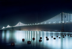The bay lights (-Alberto_) Tags: pentax6x7 baybridge lights longexposure 120film bayarea california