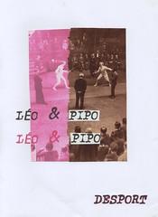 """Desport"" - Leo & Pipo, by Sabozart (Leo & Pipo) Tags: sabozart leopipo leoetpipo paris street art artwork collage portrait imaginary illustration cut paste paper cutandpaste handmade analog retro vintage mixed media graphic design france dada surreal fencing"