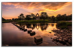 Stepping Stones (peterwilson71) Tags: sky landscape sunset reflection river nature summer evening cloud travel beautiful