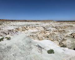 007 Nacimiento Claystones Overlain By San Jose Sandstones (saschmitz_earthlink_net) Tags: 2017 newmexico sanjuancounty angelpeakscenicarea kutzcanyon badlands mudstone