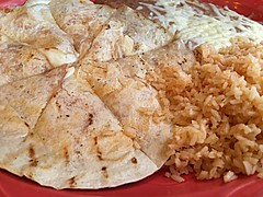 quesadilla with rice and beans (janetfo747 ~ off and on for a while) Tags: food eat dinner hungry yum yummy taste fare cook