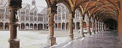 La cour d'honneur du Palais des Princes-Evêques, Liège, Belgium (claude lina) Tags: claudelina belgium belgique liège architecture palaisdesprincesevêques palais cour colonnes galerie