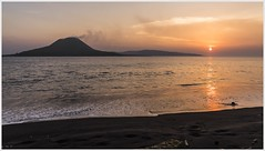 as the sun sets upon the child of Krakatoa (i.v.a.n.k.a) Tags: ivanadorn ivanahesova sonyalpha indonesia anak krakatau krakatoa langisland sunset volcanoes landscape