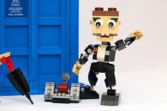 Ace (Frost Bricks) Tags: seventh doctor who sylvester mccoy ace professor tardis moc brickbuilt