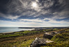 Oxwich Point (Jon and Sian Bishop) Tags: bay point horizon wide angle sky sun clouds contrast difference green rock sea seascpae landscape outdoor grass rocks hill view headland jon bishop tourmac blue coud cloud canon eos 6d oxwich gower swansea wales uk europe spring 2017 dramatic