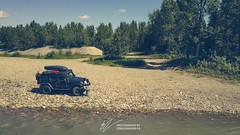 VagabondExpedition at the North Saskatchewan River in RMH (vagabondexpedition) Tags: drone vagabondexpedition jeep jeepwrangler