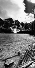 Moraine Lake, Banff National Park, Canada (EddieW) Tags: lake canada bw morainelake banff banffnationalpark