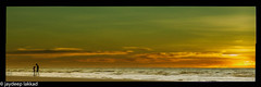 Sunset Bonding (SuRoxJ) Tags: sky brunei daughter father orange sunset visualart