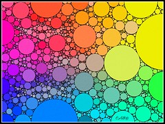Rainbow Circles II (antarctica246) Tags: antarctica246 circles percolator uzu picsart patterns orbs multicolor bright vibrant rainbowcolors