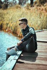 (DorotaPh) Tags: boy male polish portrait poland photography summer lake 50mm nikon natural light sunny