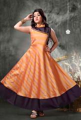 Readymade Orange Banarasi Silk Kurti (nikvikonline) Tags: kurtis tunics designer designerkurtis designerwear womenfashion womenwear designercollection ladiestop top dress dresses night nightwear pink pinkdress