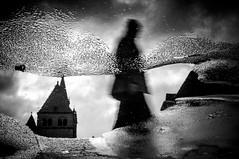 The walking shadow (AlphaAndi) Tags: mono monochrome city closeup trier tiefenschärfe dof urban sony scatten spiegelung pfütze puddle people personen portrait menschen menschenbilder street streetshots streetshooting streetportrait
